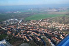 Letecký pohled na Šitbořice
